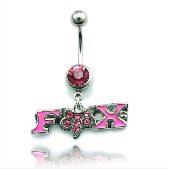 Fox Jewelry Nwt Racing Bling Navel Belly Button Ring Poshmark